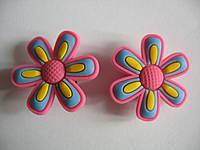 Джибитсы (Jibbitz) цветок роз/желт/гол