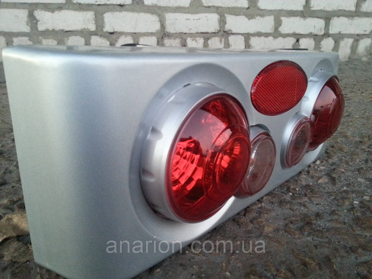 Задние стопы на ВАЗ 21099 корпус серый,3D