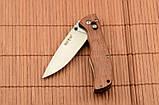 Складной нож из рукоятью Розового дерева + клипса для ремня, мощный и практичный, эксклюзивные фото, фото 2