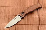 Складной нож из рукоятью Розового дерева + клипса для ремня, мощный и практичный, эксклюзивные фото, фото 4