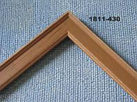 Деревянный багет узкий для картин, светло-коричневый