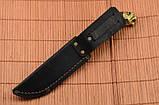 Нож охотничий Тигр сделано в Украине, ручная работа, кожаный чехол и паспорт, фото 4