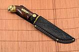 Нож охотничий Тигр сделано в Украине, ручная работа, кожаный чехол и паспорт, фото 6