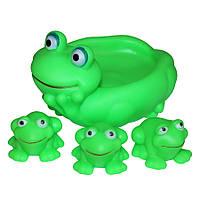 Набор резиновых игрушек-лягушек в ванну
