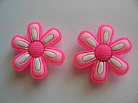 Джибитсы (Jibbitz) цветок роз\бел