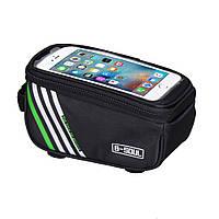 Водонепроницаемая сенсорная сумка для телефона на велосипед Mountain Road B-SOUL black