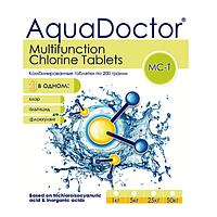 Комбинированные таблетки на основе хлора+средство против водорослей+флокулянт AquaDOCTOR MC-T, 50 кг