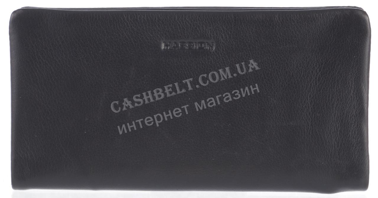 Прочное надежное стильное кожаное мужское портмоне(классика) из мягкой кожи HASSION art. H-017 черный