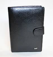 Элитный мужской портмоне из натуральной кожи Braun Buffel черный BR-602