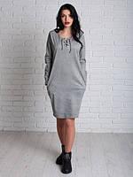 Универсальное женское платье Николь светло-серое