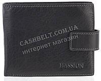 Прочный надежный стильный кожаный мужской кошелек из мягкой надежной кожи HASSION art. LF2053-1 черный