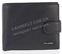 Прочный надежный стильный кожаный мужской кошелек из мягкой надежной кожи HASSION art. ZF-8313 черный