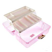 Кейс для хранения, пластиковый, цвет розовый