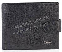 Прочный надежный стильный кожаный мужской кошелек из мягкой надежной кожи HASSION art. LF64 черный