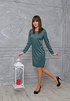 Платье свободного покроя с замками и асимметричным низом