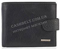 Прочный надежный стильный кожаный мужской кошелек из мягкой надежной кожи HASSION art. LF67 черный