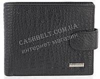 Прочный надежный стильный кожаный мужской кошелек из мягкой надежной кожи HASSION art. LF66 черный