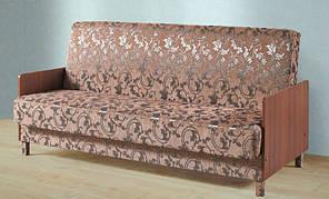 """Раскладной диван """"Книжка"""" с боковинами из ламинированного ДСП, производитель Киевский стандарт."""