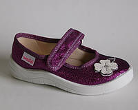 Детские тапочки Waldi арт.Алина фиолет.цветок (Размеры: 24-30)