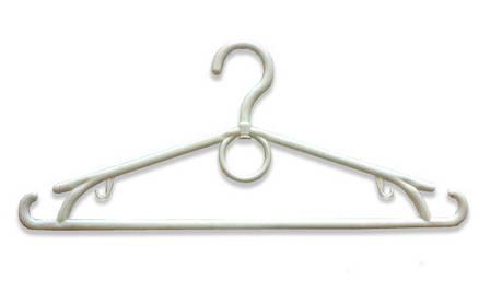 Плечики-вешалка Польша взрослая 40 см. Серебро, золото, белая., фото 2