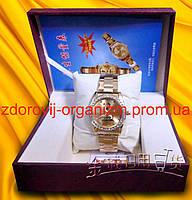 Турмалиновые  часы с магнитом и камнями Вековой Восток