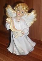 Статуэтка Ангел  девочка с папирусом большая светло-сиреневого цвета