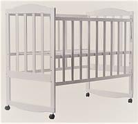 Кроватка детская Зайченок белая