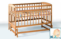 Гойдалка детская кроватка из бука на маятнике