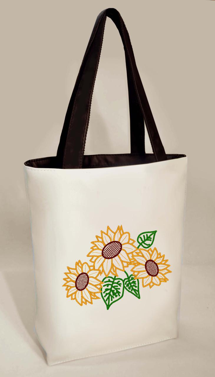"""Женская сумка """"Подсолнухи"""" Б336 цвет на выбор"""