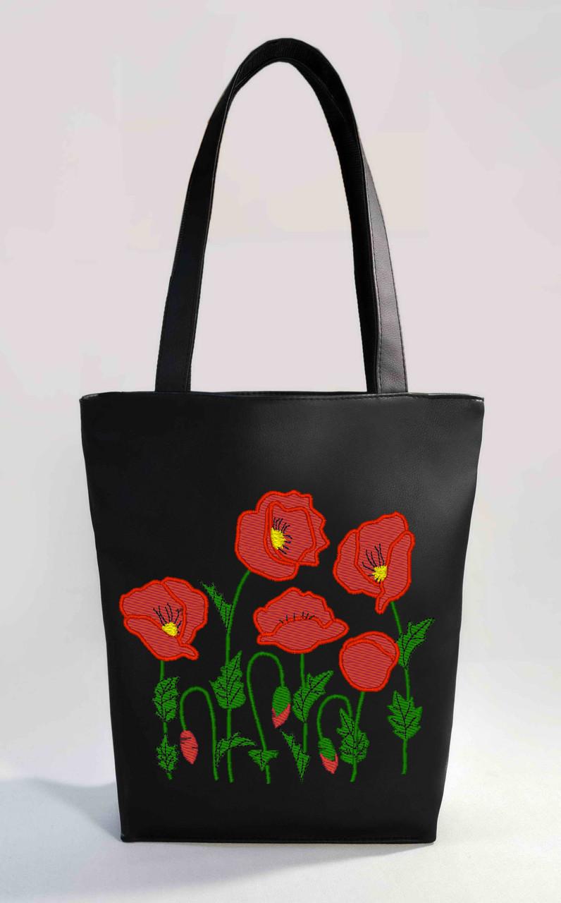 """Женская сумка """" Маки """" Б352 цвет на выбор"""