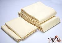 Комплект постельного белья Двуспальный евро LOTUS Сатин ваниль