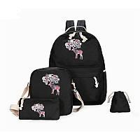 Молодежный стильный рюкзак черный