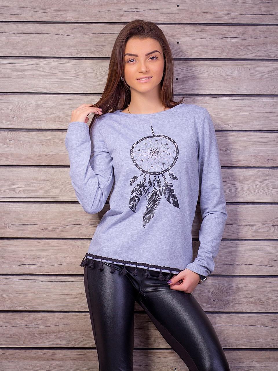 16ca1797e68 Милая кофта с нежным рисунком с мелкими стразами - Оптово - розничный  магазин одежды
