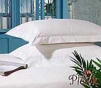 Комплект постельного белья полуторный LOTUS Сатин страйп белый