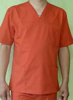 Костюм хирургический оранжевого цвета.