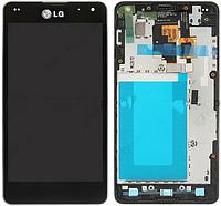 Дисплей (LCD) LG E971 Optimus G/ E973/ E975/ E976/ E977/ E987/ F180 с сенсором черный + рамка