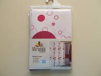 Шторка для ванной и душа Миранда BUBBLE малиновая