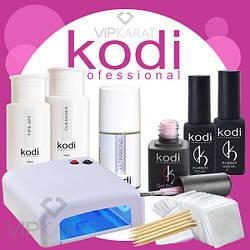 Стартовый набор гель лаков Kodi / Коди с УФ лампой 818 на 36 Вт