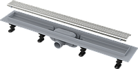 Водоотводящий желоб с порогами для перфорированной решетки AlcaPlast APZ9-550M