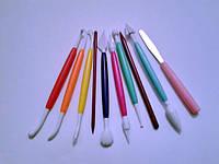 Набор стеков для работы с мастикой разноцветный