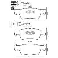DBS 2478 = C2W030ABE Тормозные колодки HEXEN