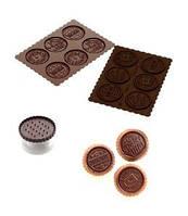 Форма силиконовая и штамп для печенья с шоколадом