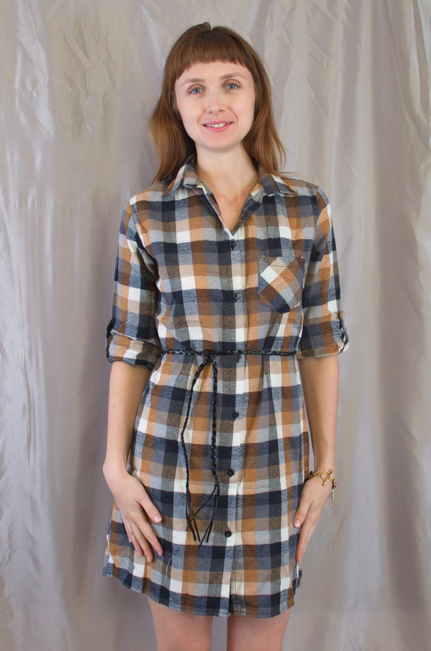 8cdd993ab3f Модная стильная женская рубашка-платье в клетку. - Exclusive в Хмельницком