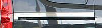 Молдинг под сдвижную дверь широкий (2 шт, нерж.) - Doblo III nuovo (2010+/2015+)