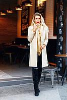 Женское Пальто из кашемира с отложным воротом