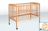 Гойдалка детская кроватка из бука на колесах