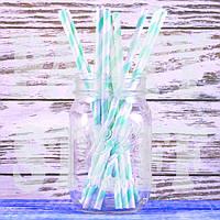 Трубочки для напитков бумажные светло-зеленые, 12 шт