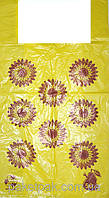 Пакеты полиэтиленовые майка,,Подсолнухи,, 30-55 см /уп-100шт