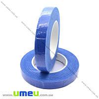 Тейп лента (флористическая) 12 мм, Синяя, 1 моток (DIF-018101)