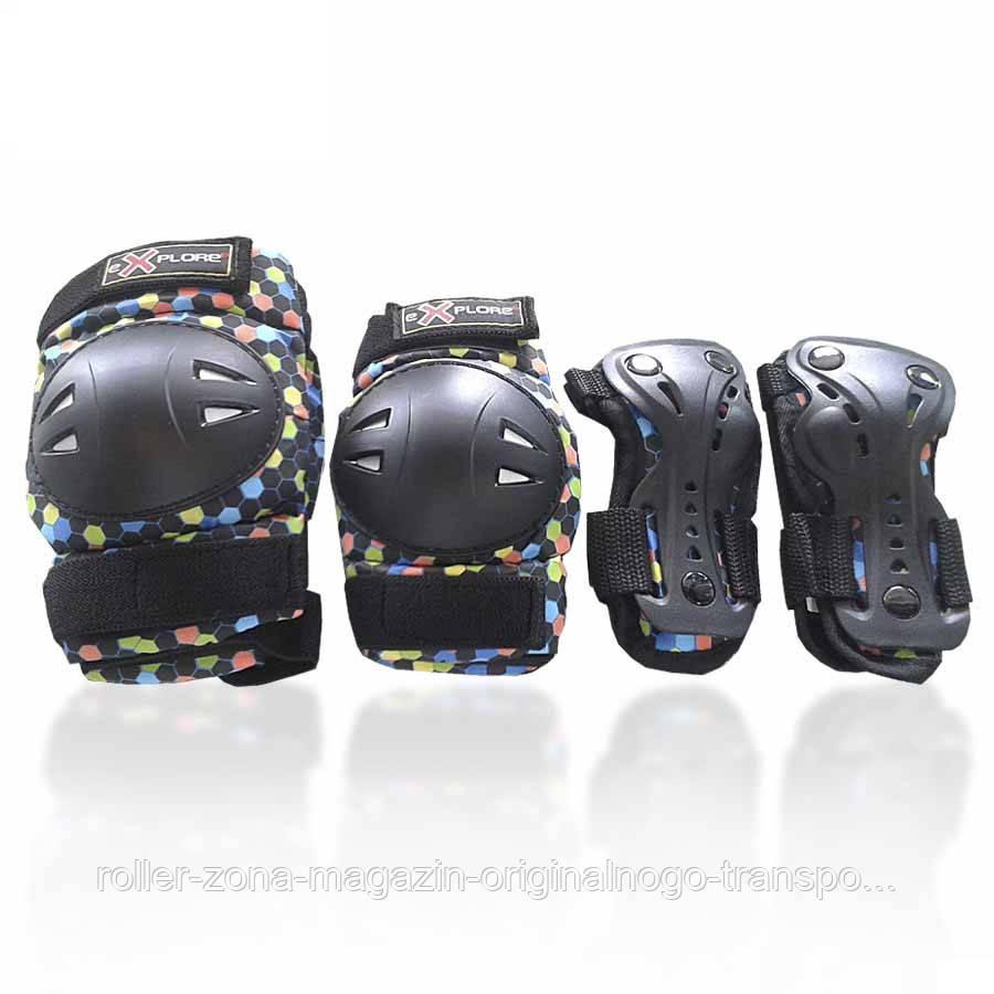 Защита для роликов детская AMZ-300 new черная
